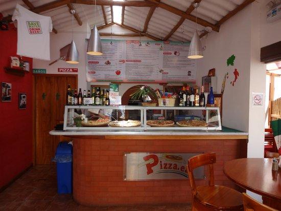 PIZZA.EAT: Inside menu