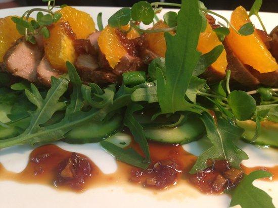 The Cellar Door Restaurant & Cafe: Teriyaki pork, rocket and orange salad