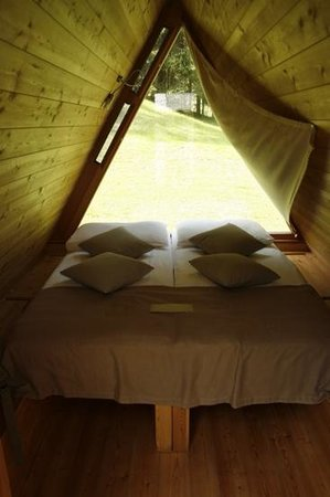 Camp Bled: Inside our hut