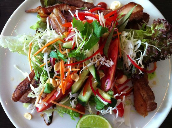 Indulge: Pork Bely and Vietnamese salad with nuoc cham dressing