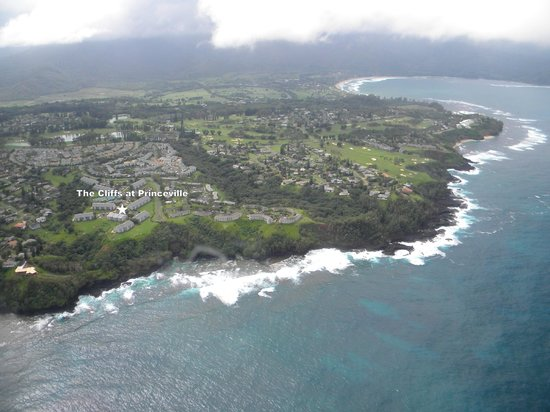 The Cliffs at Princeville: Princeville as seen during Wings Over Kauai flight