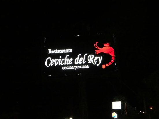 Ceviche del Rey: Cartel