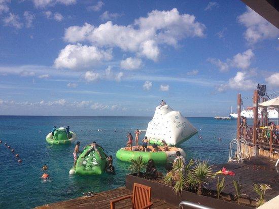 Rolandi's : Fun water activities next door are quit entertaining.