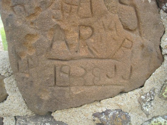 Coronado Heights: The oldest graffiti I found on the hill was from 1938!
