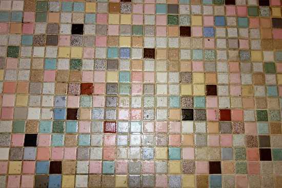 Atlanta Hotel: Bathroom floor tiles
