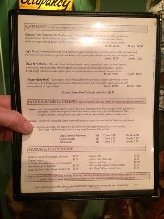Flatbread Company: Menu part # 2