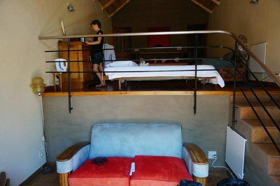 Mimosa Lodge : vue depuis l'entrée