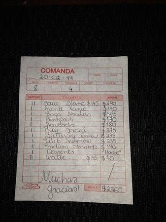 Oh Lala!: When Was The Last Time You Were Presented Your Bill Like This
