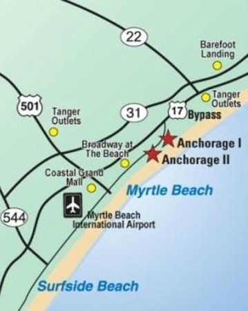 Anchorage I & II: Map / Location