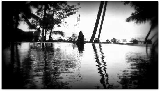 The World Backwaters: Tried to make the pool look more like an infinity pool....;)