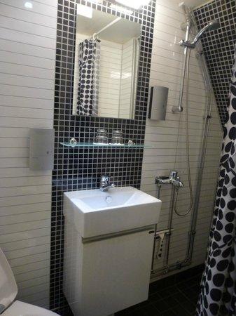 Malardrottningen Yacht Hotel and Restaurant : The bathroom -VERY tiny!