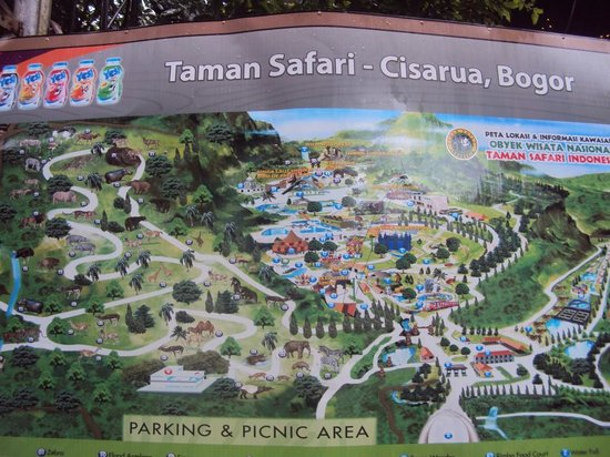 location Map Picture of Indonesia Safari Park Cisarua Cisarua