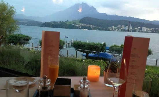 Seehotel Hermitage Luzern: View during the dinner