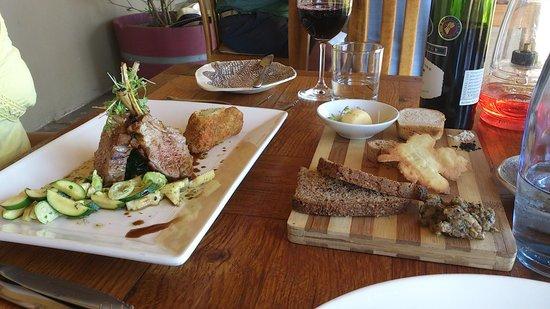 Longridge Restaurant: Rack of karoo lamb