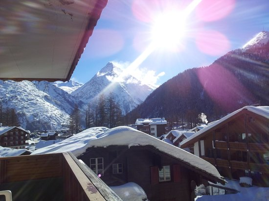 Hotel Marmotte : VIEW FROM THE BALCONY