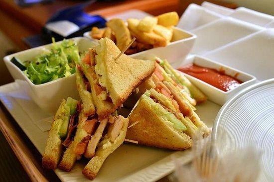 Radisson Blu Ridzene Hotel: room service - club sandwich