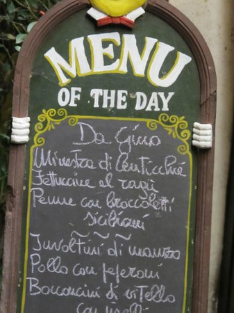 Trattoria Dal Cavalier Gino : Menu of the day