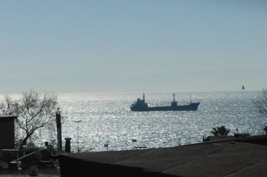 Amber Hotel: Terrace View of Marmara Sea