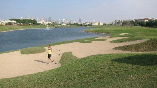 The Address Montgomerie Dubai Golf Course: side of the 12th