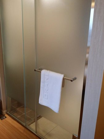 Orange Hotel - Ximen Taipei: The frosted glass leading to the toilet / shower area