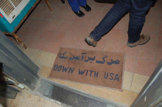 US Den of Espionage: quirky door mat