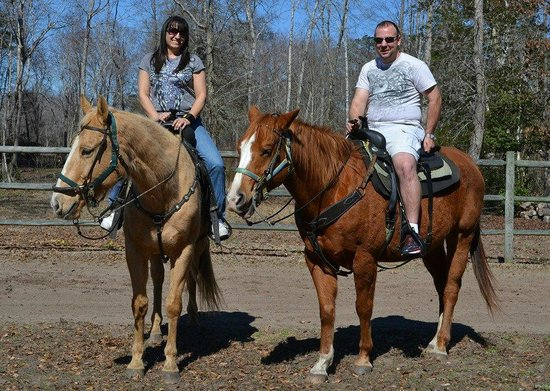 One of the pictures Wampee stables took before the trail ride.