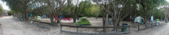 Playa Flamenco: Panoramic of campground (A or B section?)