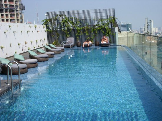 Rooftop Swimming Pool Central Riverside Hotel Saigon Picture Of Liberty Central Saigon