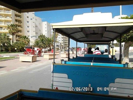 Marhaba Beach Hotel: mini train back to the hotel