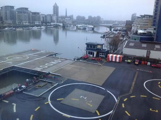 Crowne Plaza London - Battersea: London Heliport & Thames View