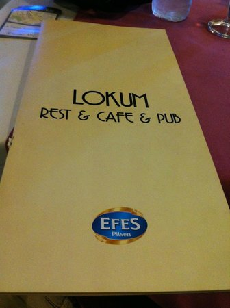 Cafe Lokum: at the restaurant