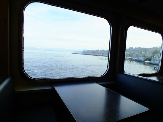 Washington State Ferries: From the passenger lounge