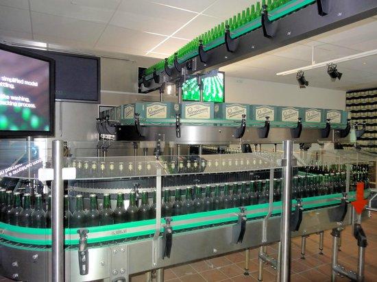 Staropramen Visitor Center: Model of a bottling hall