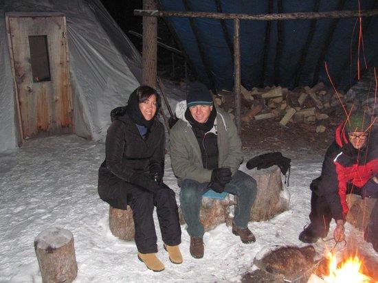 Whitehorse Fishway: esperando a aurora boreal
