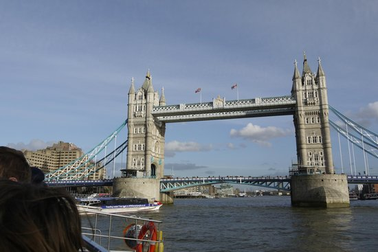 The Original London Sightseeing Tour : Passing under Tower Bridge from the River Cruise