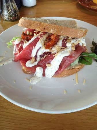 Blu Beach: Carpaccio sandwich