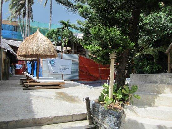 Friday's Boracay: Fenced Off Pool - Keep Out!
