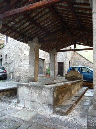 Palazzo Riario: The old well in front of the entrance