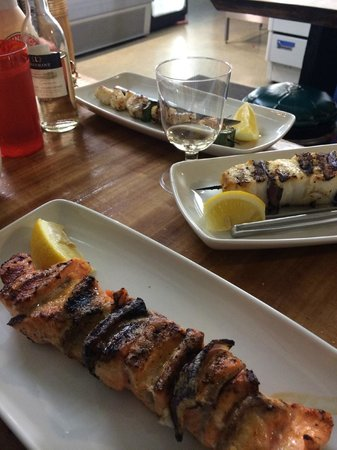Saegreifinn - The Sea Baron: skewers