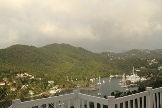 The Inn On The Bay: Marigot Bay from the porch