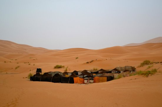 Campsite in the Sahara- booked by the Riad Mur Akush