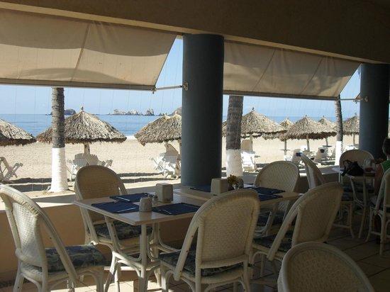 Posada Real Ixtapa : vue sur l'océan depuis le restaurant