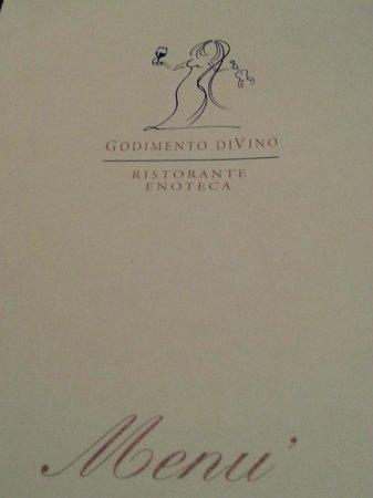 Godimento DiVino : menu