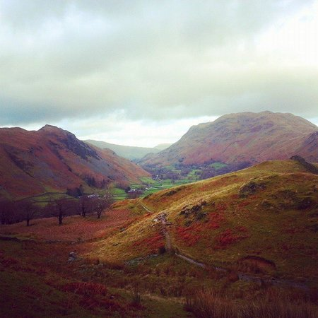 Crookabeck Bed & Breakfast: Looking down towards Patterdale from Hart Crag