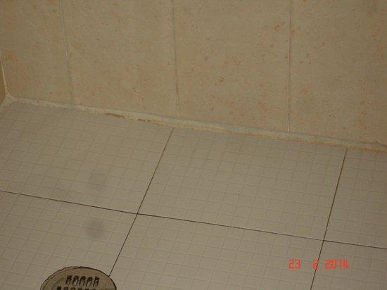 Hotel Aventura Mexicana: Grubby tile area