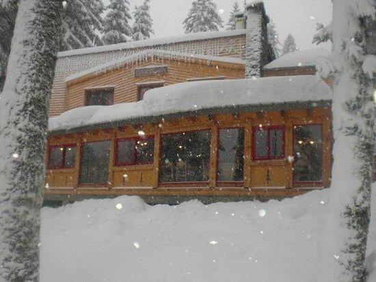 Le Bufadou: le gîte sous la neige...