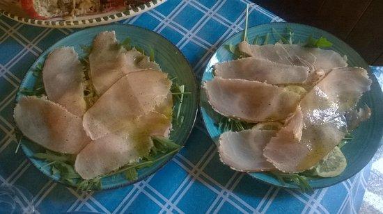 Scilla & Cariddi: Carpaccio di Pescespada