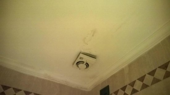 Richmond Hotel: mould on the ceiling!