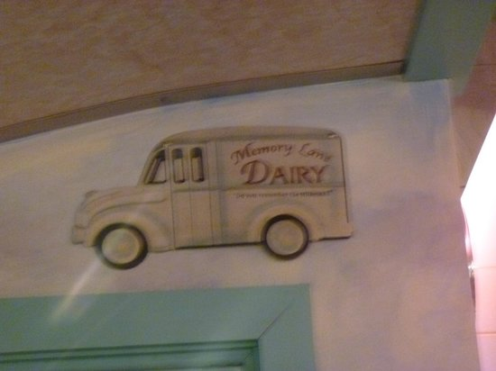 Airport Diner: Hand painted milk truck