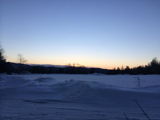 Montgomery Center, VT: Sunset view from Caribe front door